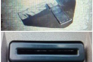 Police image of the ATM skimming device.