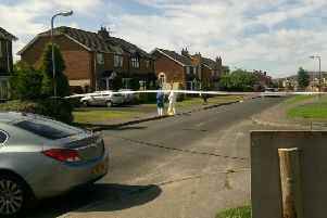 The scene of a shooting in Sevenoaks, Londonderry.