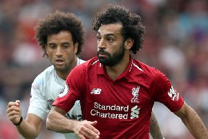 Mo Salah scored the opener in the 4-0 win over West Ham