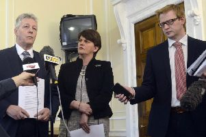 John Robinson (right) has been a key DUP backroom figure since 2007