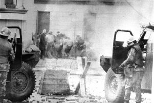 There is a horrible suspicion among veterans that the non self-incriminatory basis on which they gave evidence to the Saville Inquiry into Bloody Sunday, above, has been breached, and that some soldiers do indeed now stand liable for further investigation and in fear of a knock on the door