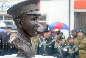 The bust of William McFadzean VC.