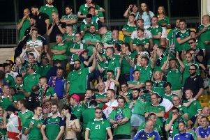 Northern Ireland fans in Austria during the UEFA Nations League. Pic by INPHO.