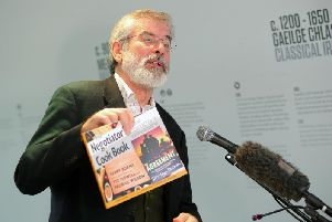 Gerry Adams at cookbook launch