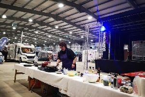 Popular chef Paula McIntyre cooked up a storm for delighted guests, even dishing up mouth-watering samples for guests to try. Paula will be showing delighted visitors  how to cook to suit the restricted camping facilities all weekend!