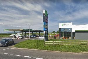 The Applegreen service station on Crankill Road, Ballymena.