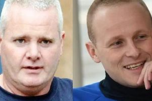 Londonderry republican, Tony Taylor (left) and self-proclaimed unionist activist, Jamie Bryson.