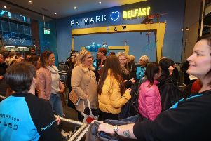 Northern Irish shoppers celebrated the reopening of Belfast's Primark store earlier this week