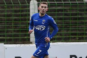 Dungannon Swifts' Daniel Hughes. Pic by Pacemaker.