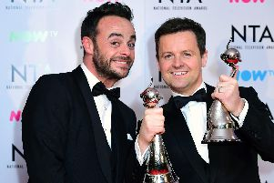 File photo dated 23/01/18 of Anthony McPartlin (left) and Declan Donnelly at the National Television Awards 2018.