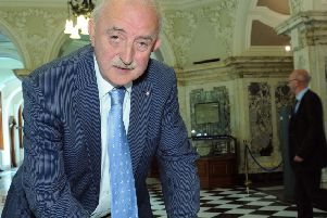 Dr Ian Adamson, at Belfast City Hall in 2011. In the 1990s he was lord mayor