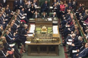 Theresa May in the House of Commons on Wednesday January 9. A 200 vote margin defeat for the government next week, on January 15, would be catastrophic for Mrs May's authority