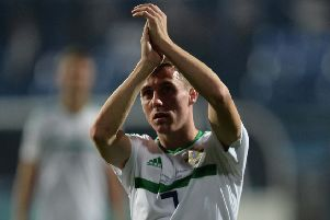 Northern Ireland's Gavin Whyte pictured after a recent international match against Bosnia. Pic by Colm Lenaghan/Pacemaker Press