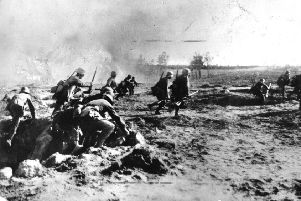 German stormtroopers during the 1918 Spring Offensive