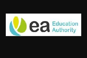 The Education Authority said the 'style and use of a corporate logo is entirely an operational matter'