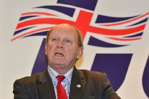 Jim Allister's property overlooks the site