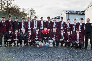 Rugby star Jacob Stockdale at St Ronan's in Lurgan, a relatively new school which has won both the Hogan Cup and the MacRory Cup (schools' GAA trophies)