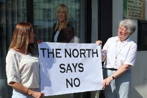 A protest by the Tyrone Pro-Life Network last year outside a Sinn Fein office.
