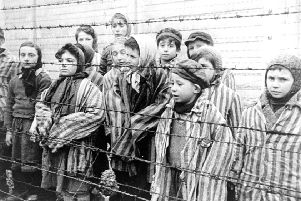 Young survivors at Auschwitz-Birkenau, liberated on 27th January 1945