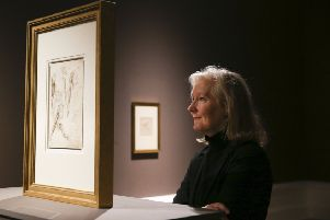 Senior Curator of Art at National Museums NI, Anne Stewart,'at the exhibition of Leonardo da Vinci drawings at the Ulster Museum to mark 500 years since the Renaissance master's death. The exhibition continues until early May. Picture Pacemaker