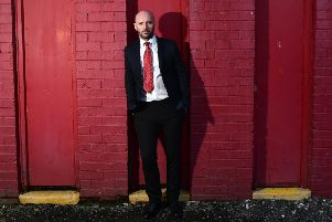Paddy McLaughlin is unveiled as the new Cliftonville FC. Photo Colm Lenaghan/Pacemaker Press