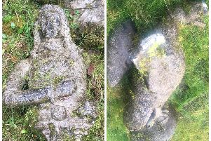 The statues were stolen from Milltown Castle almost eight years ago. (Photo: Garda)