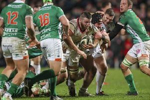 Alan O'Connor during the Guinness PRO14 League clash between Ulster Rugby and Benetton