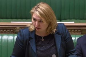 Karen Bradley at the House of Commons on Wednesday, February 13.