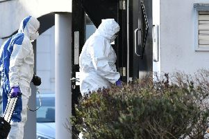 Forensic experts at the home of Giselle Marimon Herrera in Newry
