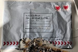 The device sent to Heathrow Airport ignited and burst into flames when it was opened.