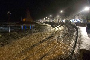 Storm Gareth hits Portstewart, as the Crescent area takes the brunt of it  on Tuedsay evening. PICTURE STEVEN MCAULEY/MCAULEY MULTIMEDIA