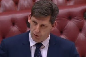The NIO minister in the Lords, Lord Duncan of Springbank, during Tuesday night's debates