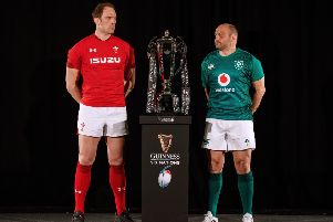 Wales' Alun Wyn Jones and Ireland's Rory Best