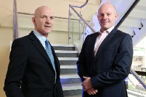 HNH director Wayne Horwood pictured, right, with George McKinney, director of technology and services with Invest NI