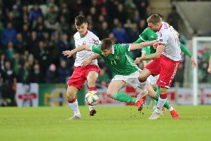 Northern Ireland on the attack against Belarus