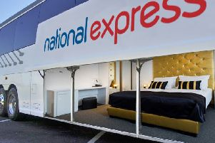 National Express is trialling on-board luxury sleep suites