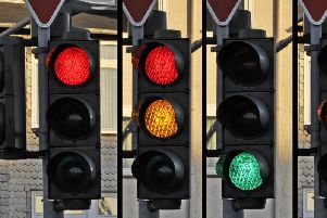 A power outage is being blamed for the shutdown of four sets of traffic lights in Belfast.