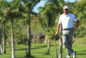 Graeme McDowell during the final round of the Corales Puntacana Resort & Club Championship which he won