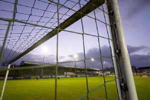 Finn Park, Ballybofey - the scene of the feisty north west derby between Finn Harps and Derry City on Friday night.