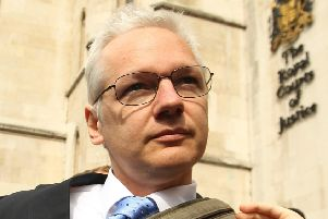 Wikileaks founder Julian Assange pictured at an earlier court hearing in London in 2011