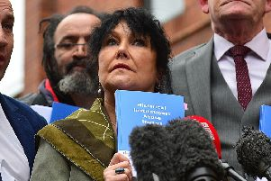 Margaret McGuckin pictured in January 2017 at the launch of the Hart recommendations, which included compensation for victims