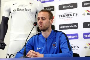 Ballinamallard United captain Richard Clarke