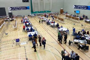 At the count for Ards and North Down in the Aurora Leisure Centre in Bangor