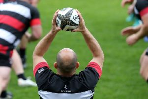 A last throw at home for Rory Best during Ulster's Captain's Run before their PRO14 semi-final qualifier against Connacht
