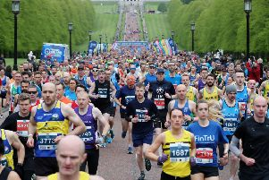 Press Eye - Belfast - Northern Ireland - 5th May 2019 -  ''General view of the start of the Deep RiverRock Belfast City Marathon at the Stormont Estate, Belfast.''Photo by Kelvin Boyes / Press Eye.