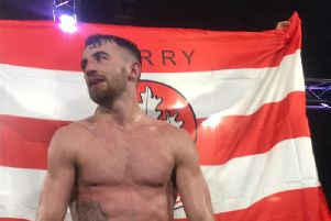 Tyrone McCullagh pictured after retaining his WBO super bantamweight European title in Newcastle on Friday night.