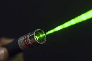 The laser pen was shone at aircraft.