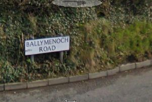 The fire was reported at Ballymenoch Road, Holywood.  Picture: Google