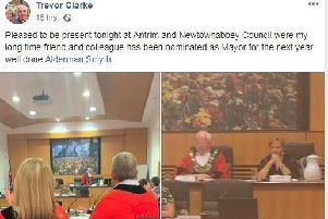 Trevor Clarke's Facebook post from Monday's meeting.