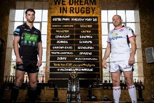Glasgow's Adam Hastings and Ulster's Rory Best' ahead of Friday night's Guinness PRO14 semi-final at Scotstoun